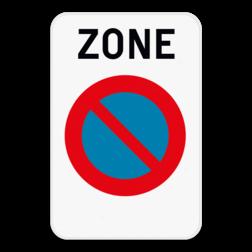 Verkeersbord ZE1: Dit verkeersbord geeft aan dat hier het begin is van een zone waar het verboden te parkeren. Je kan dit bord ook voorzien van een beperking. Bijvoorbeeld van 9 tot 17u, of enkel op zon- en feestdagen. Verkeersbord SB250 ZE1 - Zone parkeerverbod ZE1