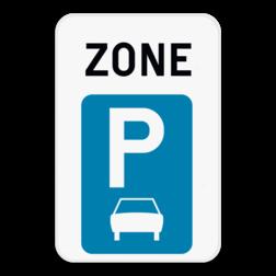 Verkeersbord ZE9a: Dit verkeersbord geeft aan dat hier het begin is van een zone waar parkeren uitsluitend toegelaten is voor motorfietsen, personenauto's, auto's voor dubbelgebruik en minibussen. Verkeersbord SB250 ZE9a ZE9a