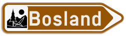 Verkeersbord F33c: Bewegwijzeringsbord op afstand: sportcentrum, plaats met een toeristisch of ontspannend karakter, recreatie- of pretpark, cultureel park, monument, merkwaardig landschap. Het verkeersbord mag aangevuld worden met de symbolen van het type S. 30. tot S. 36. Verkeersbord SB250 F33c - Bewegwijzeringsbord op afstand Rechts F33c