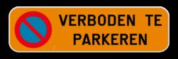 Product Parkeerplaats bord - Parking met tekst naar keuze Parkeerplaats bord - Verboden te parkeren