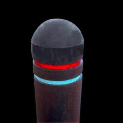 Reflectorpaal Ø150mm - gerecycled kunststof diamantkop, paal, bermpaal, kunststof, recycling, reflectorpaal