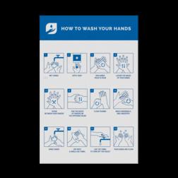 Informatiepaneel 200x300mm Handen wassen