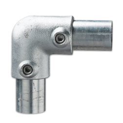 Kniestuk 90 graden - Buiskoppeling verzinkt staal Buiskoppeling, staal, koppeling, T stuk, kort
