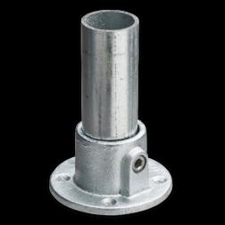 Voetplaat rond - Buiskoppeling verzinkt staal Buiskoppeling, staal, koppeling, voetstuk, voetplaat, rond