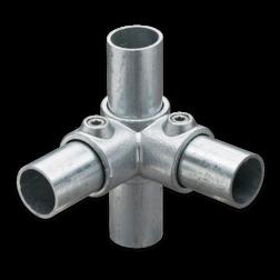 Hoekstuk voor doorlopende staander - Buiskoppeling verzinkt staal Buiskoppeling, staal, koppeling, hoekstuk ,doorlopende, staander