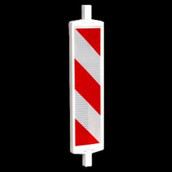 Geleidebaken type B rood wit (dubbelzijdig reflecterend klasse 2) geledebaak, baken, schild , afzetmateriaal, baakschild, geleidebaken
