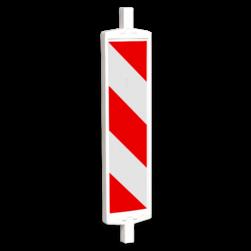 Geleidebaken BB35 type A rood wit (dubbelzijdig reflecterend klasse 1) geledebaak, baken, schild , afzetmateriaal, baakschild, geleidebaken