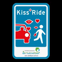 Product Parkeerbord Kiss+Ride met je eigen ontwerp of bezorg ons je logo en we maken er eentje voor jou. Parkeerbod Kiss&Ride - Eigen ontwerp