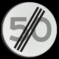 Verkeersbord Einde maximum toegestane snelheid 50 kilometer per uur Verkeersbord RVV A02-00 vrij invoerbaar - Einde maximum snelheid A02-050 snelheidsbord, snelheidbord, km bord, snelheid, einde, km per uur, 50 kilometer per uur, A2, maximumsnelheid, maximum snelheid, maximalesnelheid, maximale snelheid