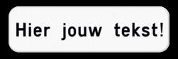 Tekstbord wit/zwart - 2 tekstregels