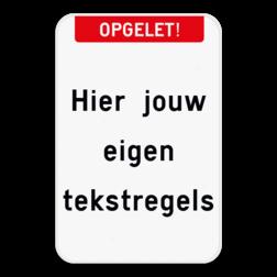 Tekstbord - Boventekst