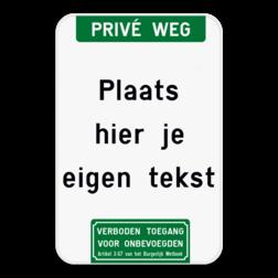 Tekstbord - Boventekst en pictogram