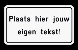 Tekstbord Pas zelf de tekst en kleur van het bord aan in onze SignEditor. Tekstbord met moderne kader