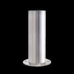 RVS afzetpaal Ø154-204mm - vast RVS, afzetpaal, roestvast, corrosievast, trottoirpaal, geleidepaal, parkeerpaal
