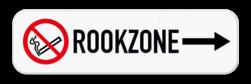 Routebord met pijl - Rookzone - Rookverbod