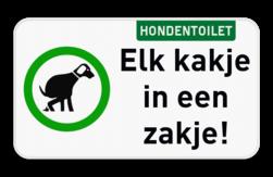 Informatiebord Hondentoilet - Plaats eenvoudig je eigen tekst met onze SignEditor. Informatiebord - Hondentoilet met eigen tekst