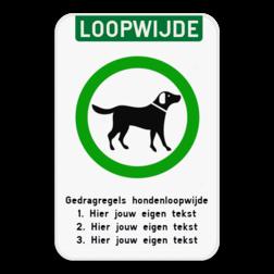 Informatiebord - Hondenloopwijde