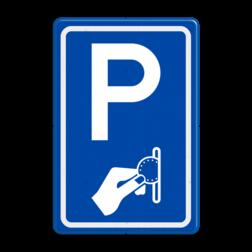Verkeersbord Betaald parkeren Verkeersbord RVV BW111 - Betaald parkeren BW111