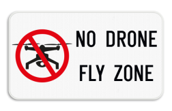 Verkeersbord - No drone fly zone