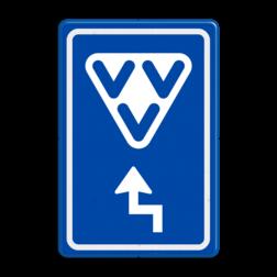 Verkeersbord Ga rechtdoor voor VVV-kantoor Verkeersbord RVV BW101 - VVV met aanpasbare pijlrichting BW101 VVV-kantoor, informatie, routebord, bord met pijl, BW101