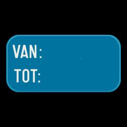Verkeersbord GVIId: Dit verkeersbord is een aanvulling op een parkeerbord. In dit geval tijdsaanduiding. Verkeersbord SB250 G type VIId - Aanvulling op verkeersborden voor stilstaan en parkeren GVIId