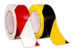 Vloertape rol vinyl (indoor) | 50mm - 33 meter vloertape, vloermarkering, magazijn, geel, zwart, rol, vinyl, tape, markering