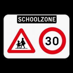 Informatiebord Informatiebord - Schoolzone - Pas het ontwerp volledig zelf aan met onze SignEditor. Informatiebord - Schoolzone - A23 - C43