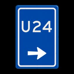Verkeersbord Uitwijkroute Verkeersbord RVV BW501r - U-bord BW501r parkeerplaats, parkeerplek, routebord, bord met pijl, uitwijkroute, u borden, u-borden