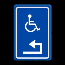 Verkeersbord Parkeren + uitsluitend in de vakken + pictogram Verkeersbord RVV E06 - Routebord mindervaliden Routebord, E06, Pijl
