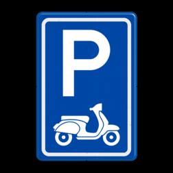 Verkeersbord E08 parkeerplaats scooters parkeerplaats voor scooters
