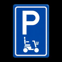 Verkeersbord E08 parkeerplaats scootmobiel parkeerplaats voor scooters