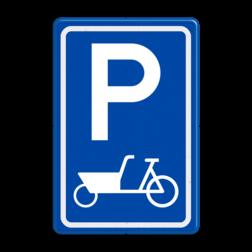 Verkeersbord E08 parkeerplaats bakfiets Parkeren, bakfiets, parkeerbord, eigen parkeerplek, school, E8