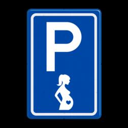 Verkeersbord GEEN officieel verkeersbord conform regelement voor verkeerstekens (RVV) Verkeersbord RVV E08t - Zwangere vrouwen - BT11 E08t