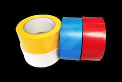 Vloertape rol vinyl (indoor)   50mm - 33 meter   geel, blauw, rood of wit vloertape, vloermarkering, magazijn, geel, zwart, rol, vinyl, blauw, rood, wit