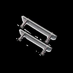 Beugelset spijlen- / draadhek staal (set 2 stuks) bevestigingsbeugel, hekbeugel, ophangbeugel, hekbevestiging, beugel, bevestigingsmateriaal