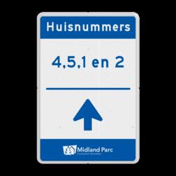 Routebord huisnummers op maat - incl. logo routebord, parkeerplaats, P2, P3, vol, bezet