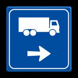 Verkeersbord - Routeverwijzing Vrachtwagen