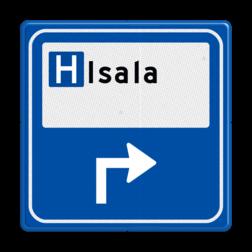 Verkeersbord - Parkeerplaatsverwijzing Ziekenhuis Hospitaal