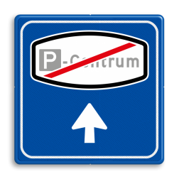 Verkeersbord RVV BW206e - Einde Centrum verwijzing
