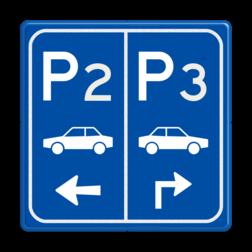 Parkeerbord E8 auto met nummer enpijl