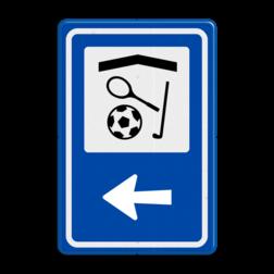 Routebord BW101 (blauw) - 1 pictogram met aanpasbare pijl BEW101, Sporthal, sporten