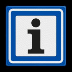 Verkeersbord Informatiepuntverwijzing Verkeersbord RVV BW101S104 - informatiepuntverwijzing BW101S104 informatiebord