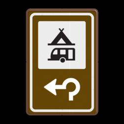Routebord BW101 (bruin) - 1 pictogram met aanpasbare pijl BEW101, Camping tent & caravan