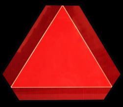 Langzaam verkeer bord - driehoek 400mm fluorescerend oranje langzaam, rijden, verkeer, driehoek, bord, markering