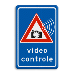 Verkeersbord videocontrole verkeerslicht, video, videocontrole, Camera, controle,