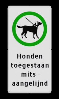Informatiebord Hondentoilet, opruimplicht Informatiebord 200x400mm gr/zw - Honden aangelijnd honden, uitlaten, poep, opruimplicht, hondenborden, hondenverbod