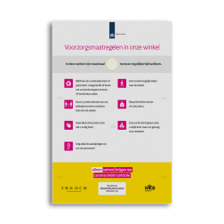 Informatiebord - Rijksoverheid voorzorgsmaatregelen winkels Rijksoverheid, corona, covid, voorzorgsmaatregelen, winkels, ondernemers, horeca, detailhandel
