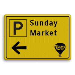Verkeersbord WIU geel/zwart eigen ontwerp Tekstbord, WIU bord, tijdelijke verkeersmaatregelen, werk langs de weg, omleidingsborden, tijdelijk bord, werk in uitvoering, 3 regelig bord