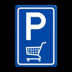 Verkeersbord E08 parkeerplaats winkelwagen parkeerplaats voor winkelwagens