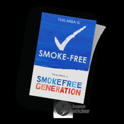Smoke Free Generation - Sticker Schoolplein rookvrij, schoolzone, astmafonds, astma, longfonds, Area, Campus